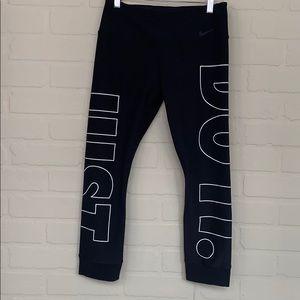 Nike crop tights running leggings just do it logo